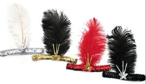 Flapper Headband - Red
