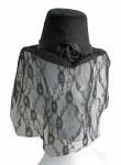 Mini Victorian Hat - Black