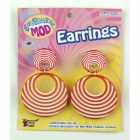 Orange Stripe Mod Earrings