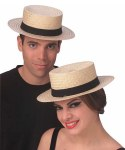 Boater Hat - Straw