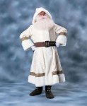 Old Time Santa - White Brocade XL