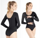 Long-Sleeve Leotard - Black