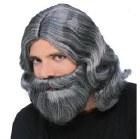 Biblial Wig & Beard Set - Grey