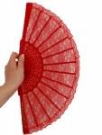 Fan - Red Lace