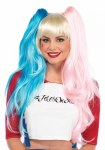 Harlequin Wig - Pink & Blue