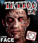 Tattoo Set Cyborg Face