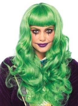 Long Wavy Green Wig