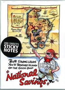 'Bob Saving' National Savings Poster, 1946 Sticky Post-It-Note Block