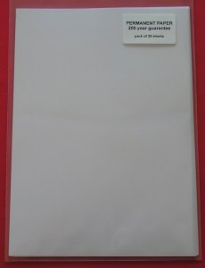 A4 90gm2 Permanent Paper - 25 Sheets