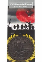 WWI Memorial Plaque: Replica Medal