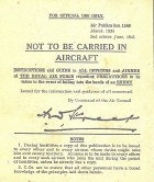 Not To Be Carried In Aircraft Replica