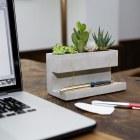 Concrete Large Planter and Pen Holder