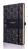 Castelli Art Deco Gold Notebook