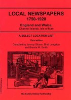 Local Newspapers 1750-1920 (3rd Edition)