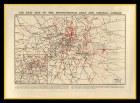 London Air Raid Map Great War 1914-18