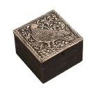 Embossed Bird Trinket Box