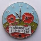Armistice Poppy Pin Badge