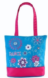 FLORAL TOTE TURQUOISE