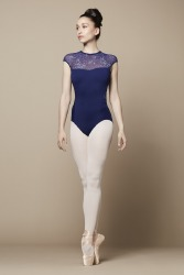 CAIA MESH BACK PRINTED LEOTARD
