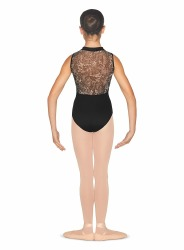 ZIP LEOTARD 6-X7/INT BLK