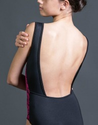 ART NOUVEAU - BATEAU NECK LEOTARD WITH SQUARE BACK