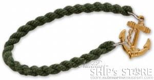 Bracelet - Gold Anchor Green