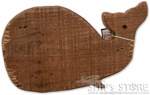 Decor - Fir Wood Whale Shape