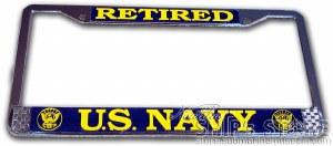 License Frame - Navy Retired