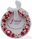 Bracelet- Polka Dots Red