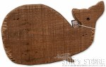 Decor - Fir Wood Whale Shape