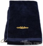 Golf Towel - Gold Dolphins