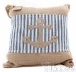 Pillow - Burlap w/anchor wrap