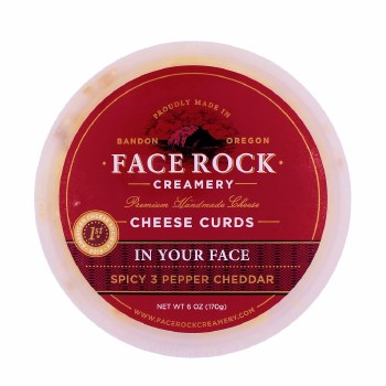 """Curds- """"In Your Face"""" Spicy 3-Pepper Cheddar"""