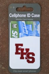 Cellphone ID case white