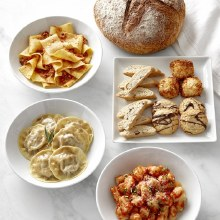 Three Day Pasta Dinner for Two