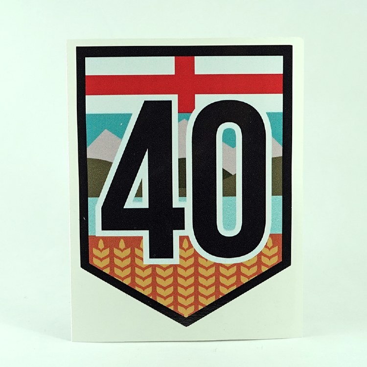 Highway 40 Shield Sticker
