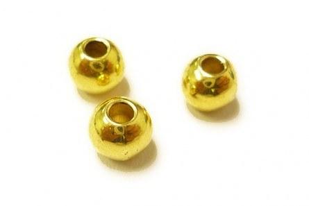 """MFC Brass Beads Gold 1/8"""""""