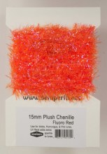 15mm Plush Chenille Fluoro Red