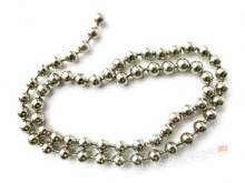Bead Chain Eyes Small Silver