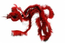 Black Barred Rabbit Strips Red