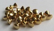 Brass Dumbell Eyes Gold 1/8