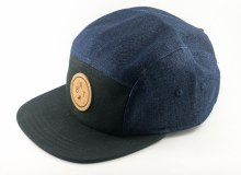 BRT 5-Panel Hat Blue Denim/Blk