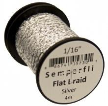 Flat Braid 1.5mm Silver