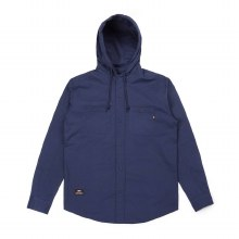 Hooded Shirt Washed Navy XL