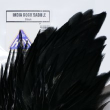 India Cock Saddle - Black