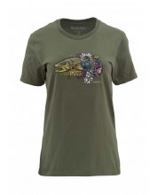 Women's Larko Brown T Olive M