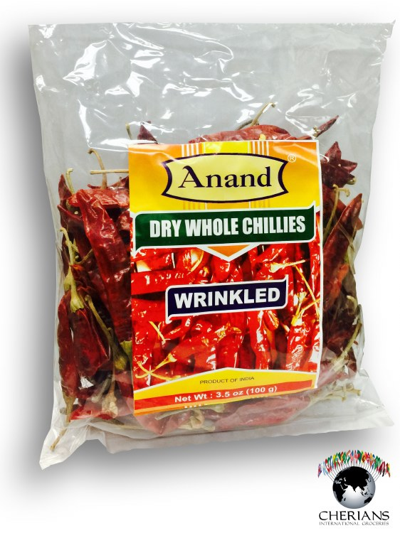 ANAND DRY CHILI WRINKLE 100GM