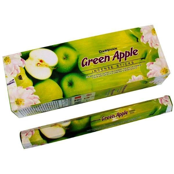DARSHAN GREEN APPLE INCENSE (6 PACKS OF 20 STICKS)