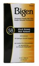 BIGEN PERMANENT POWDER HAIR COLOR-BLACK BROWN 58