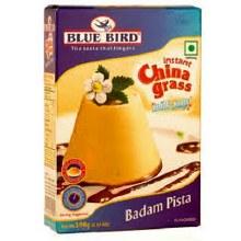 BLUE BIRD INSTANT CHINA GRASS MILK JELLY-BADAM PISTA 100G